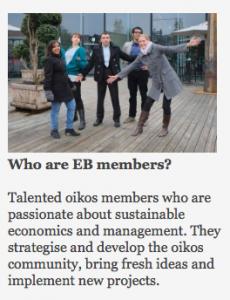 oikos SM14 - EB members