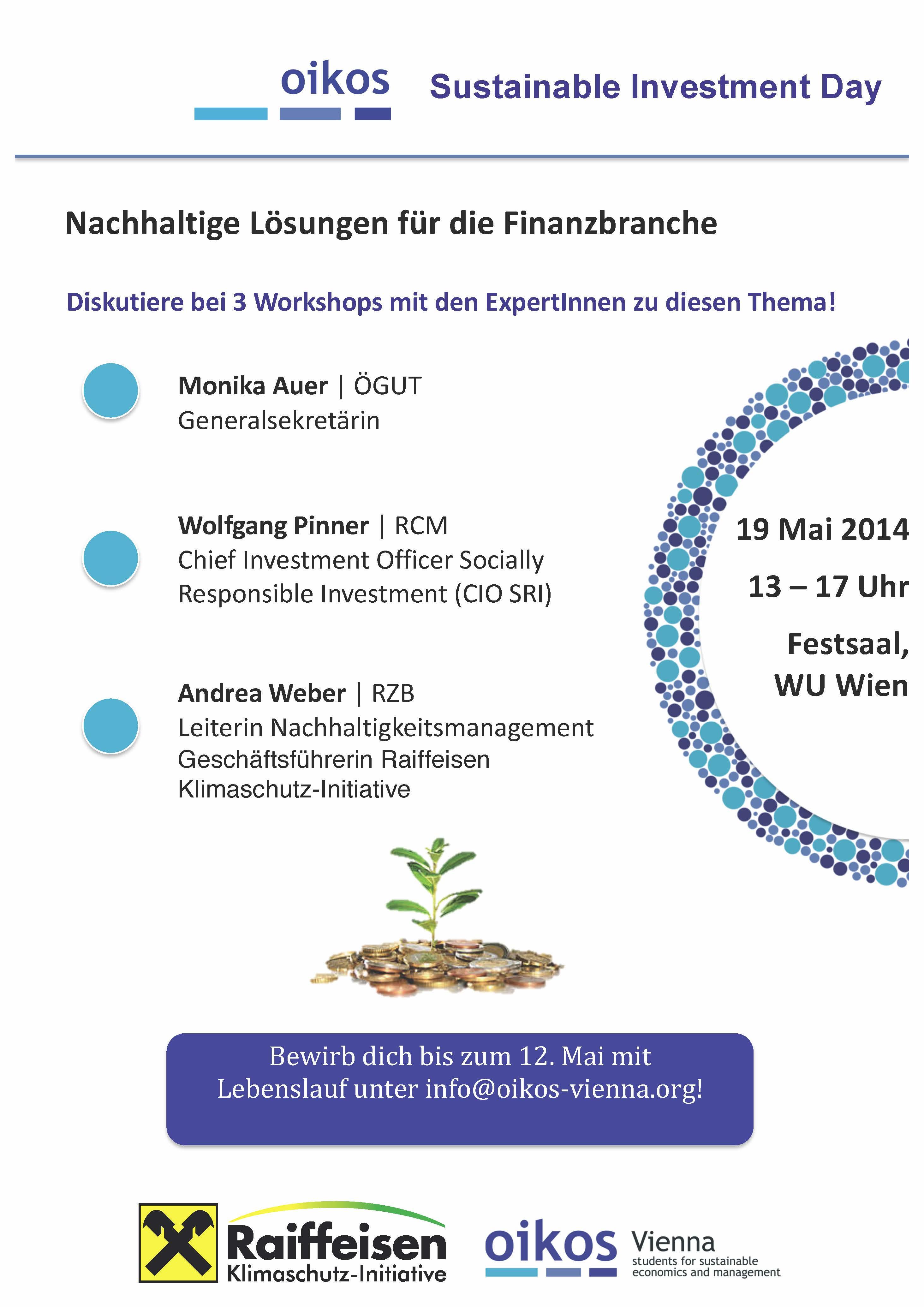 Vienna » Blog Archive oikos sustainable investment day 2014 - Vienna