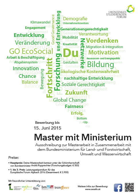 Flyer Master mit Ministerium