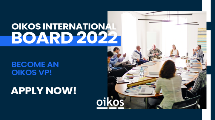 Applications for the oikos International Board 2021/22 are open